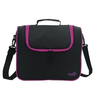 Baggy Fit Insulated Lunch Bag (Black/Magenta)