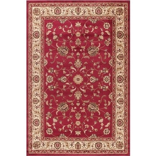 "Concord Global Jewel Marisa Red Rug(6'7""X9'3"") - 6'7 x 9'1"