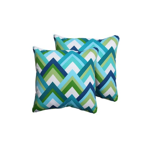 Resort Outdoor Throw Pillows Square Set of 2