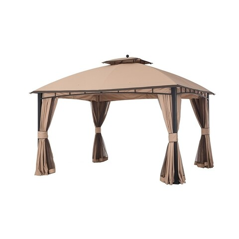 Sunjoy 12' x 10' Mirage Gazebo gold / brown edge