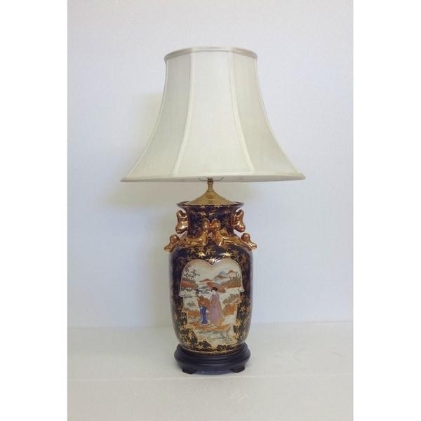 Femme Rose Famille Porcelain Table Lamp