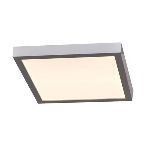 Ulko Exterior 1-light Silver Medium Square LED Outdoor Flush Mount