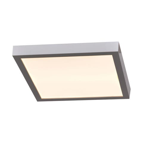 Access Lighting Ulko Exterior 1-light Silver Medium Square LED Outdoor Flush Mount