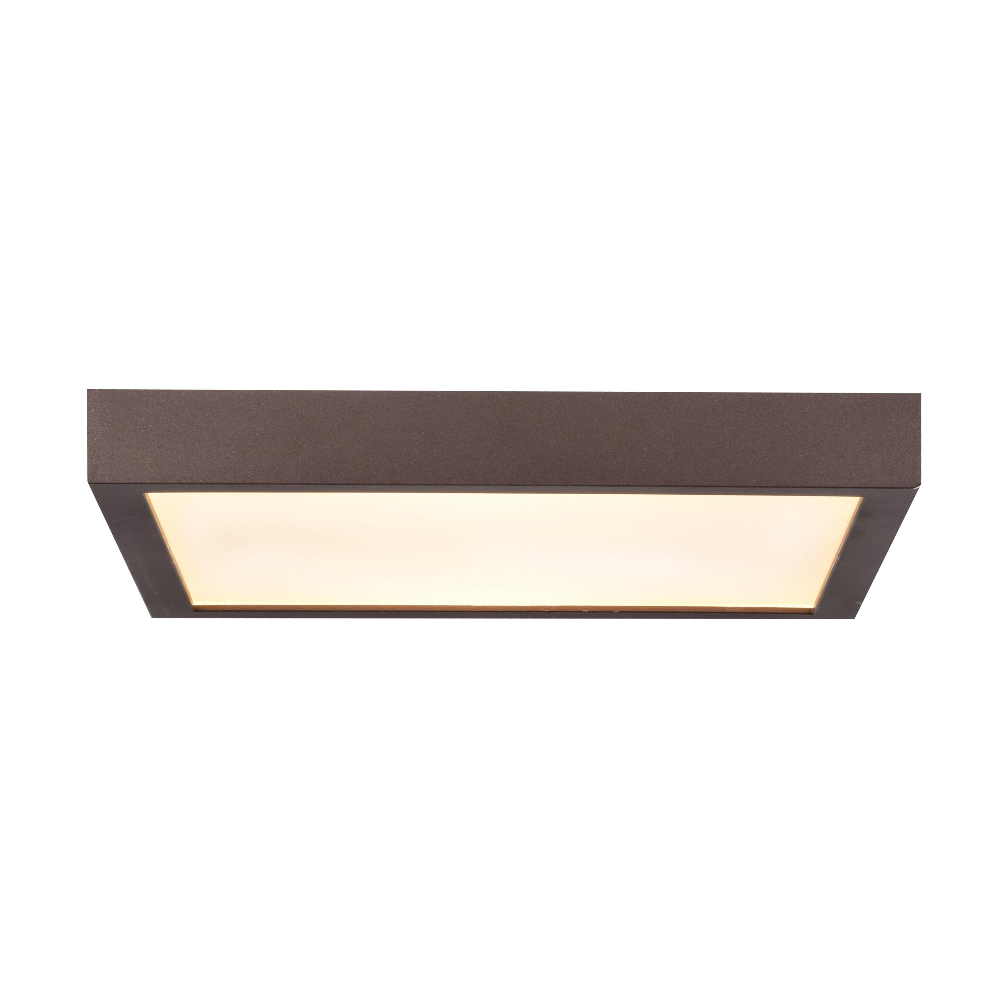 Image of: Shop Ulko Exterior 1 Light Bronze Large Square Led Outdoor Flush Mount Overstock 21012007