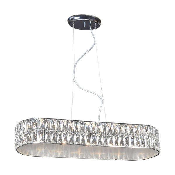 Access Lighting Magari 1-light Chrome LED Small Oblong Crystal Pendant