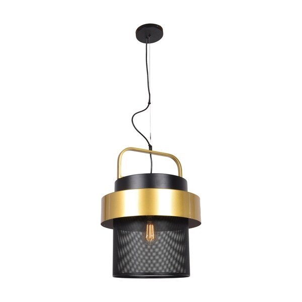 Access Lighting Fusion 1-light Black and Gold LED Pendant