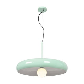 Access Lighting Bistro 1-light Mint Green and White Large Round LED Pendant