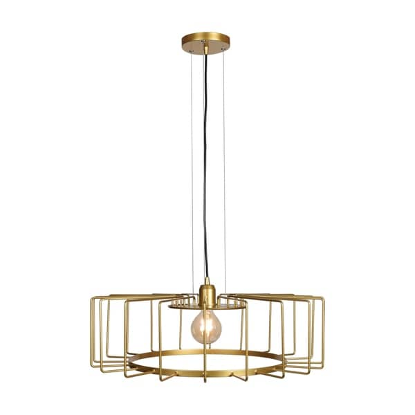 Access Lighting Wired 1-light Gold LED Horizontal Cage Pendant