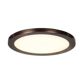 Access Lighting Disc 1-light Bronze Medium Round LED Flush Mount