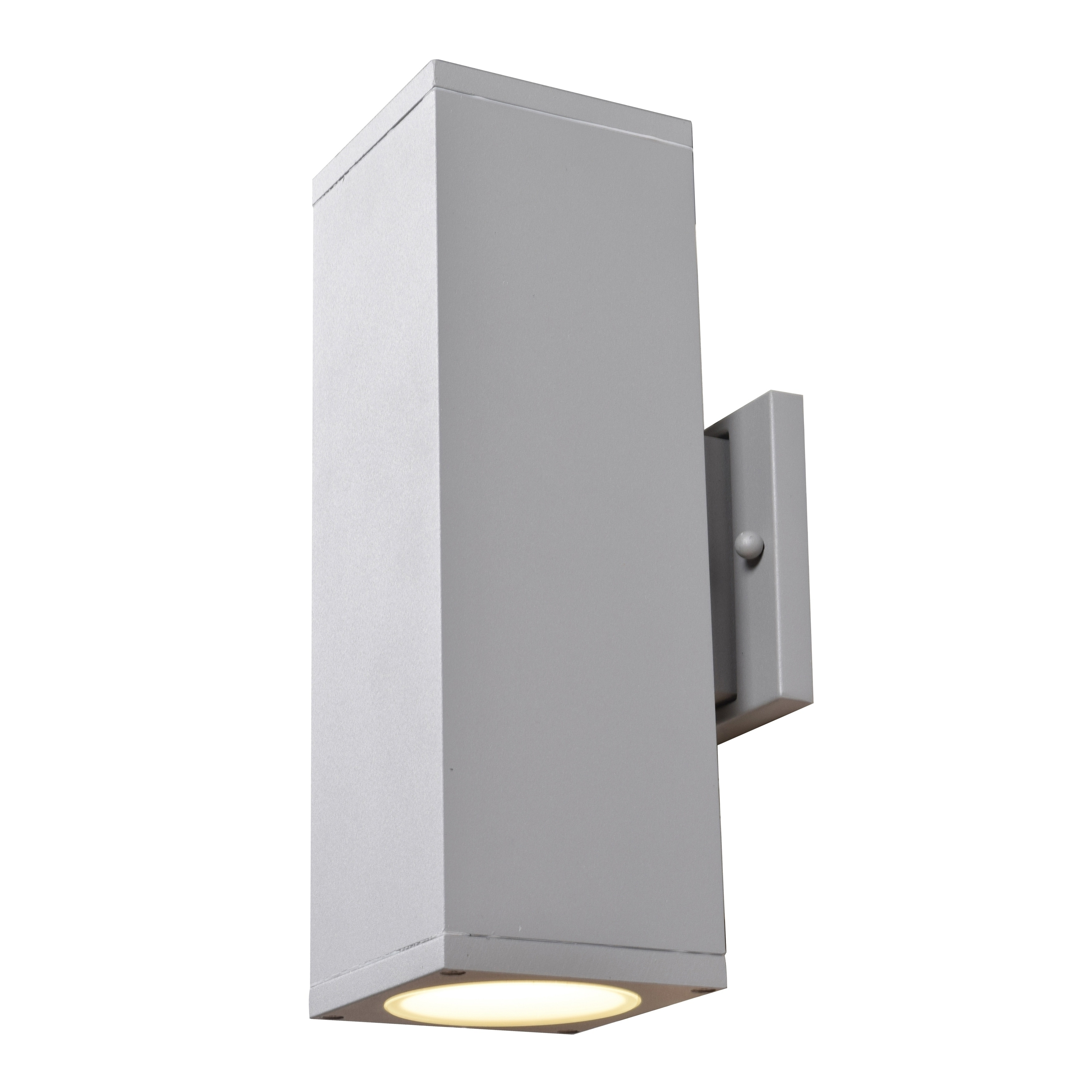 Access Lighting Bayside 2 Light Satin Medium Square Cylinder Led Outdoor Wall Sconce