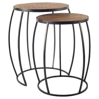 Mercana Clapp IV (Set of 2) Wooden Nesting Accent Table