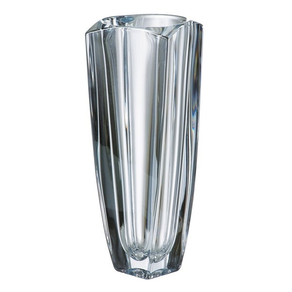 Majestic Gifts European Glass Crystalline Vase 11 Height Made