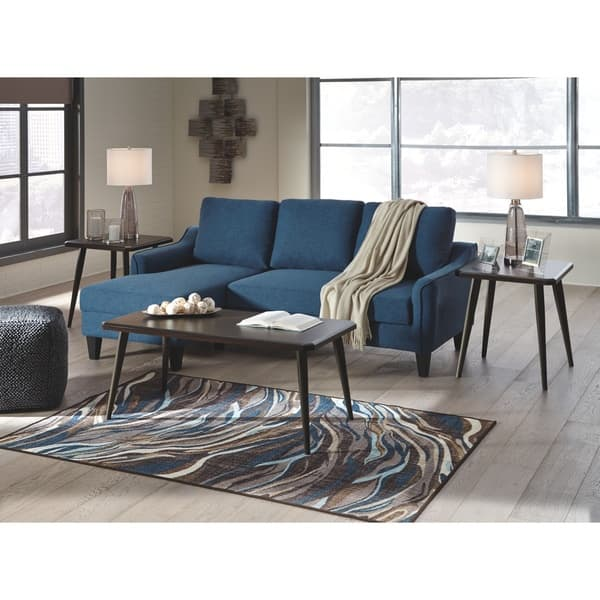 Surprising Shop Jarreau Contemporary Blue Sofa Chaise Sleeper On Sale Gmtry Best Dining Table And Chair Ideas Images Gmtryco