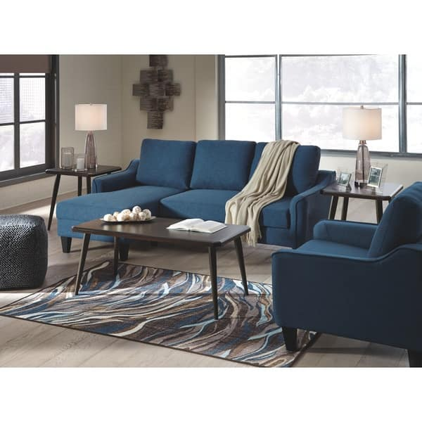 Swell Shop Jarreau Contemporary Blue Sofa Chaise Sleeper On Sale Evergreenethics Interior Chair Design Evergreenethicsorg