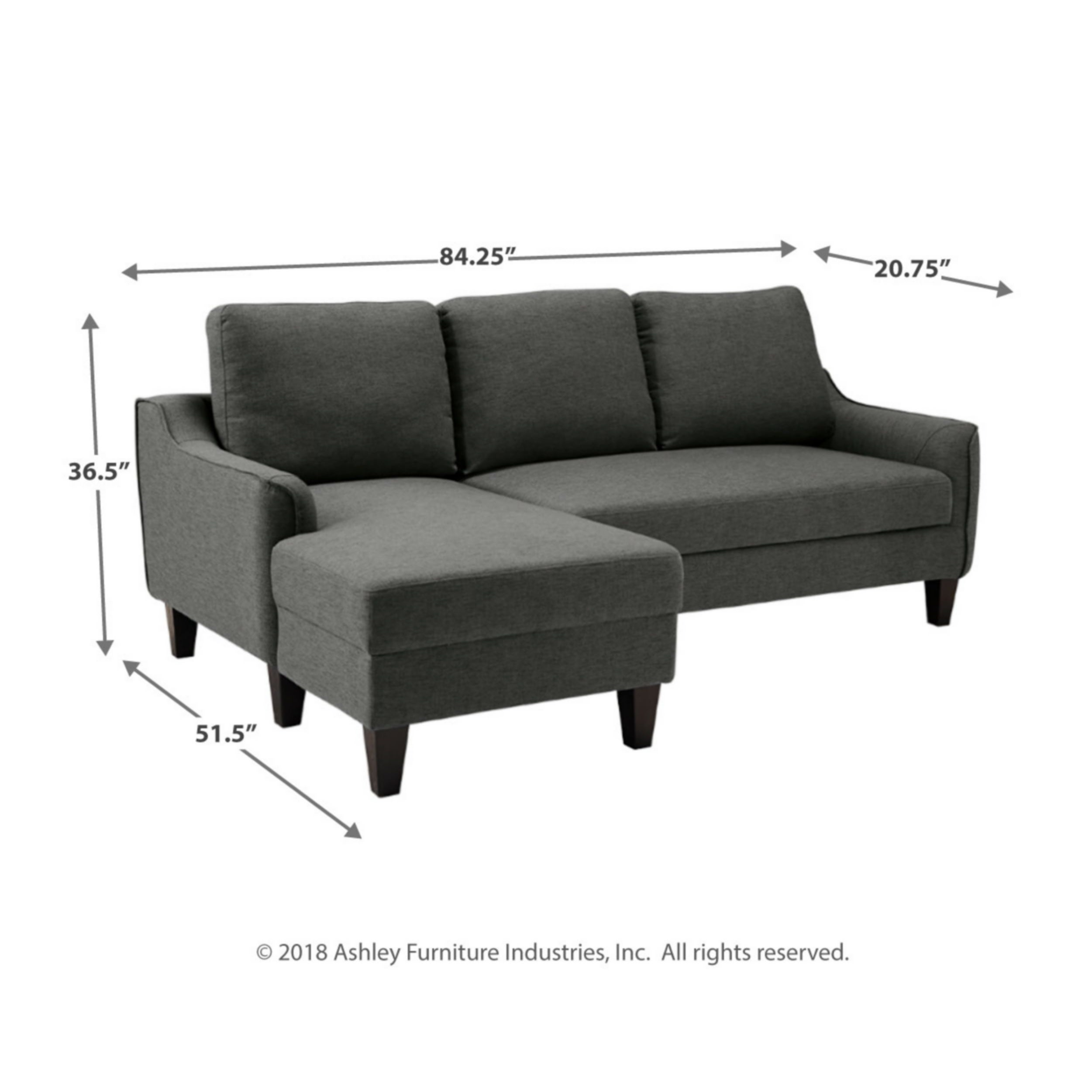 Jarreau Contemporary Gray Sofa Chaise Sleeper