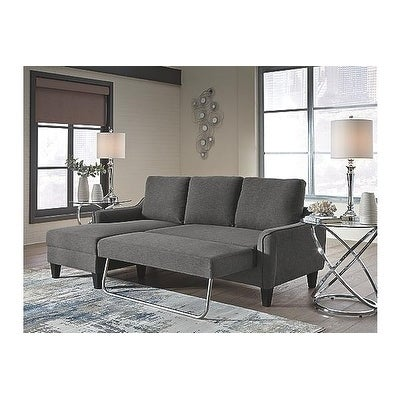 Signature Design By Ashley Jarreau Contemporary Gray Sofa Chaise Sleeper