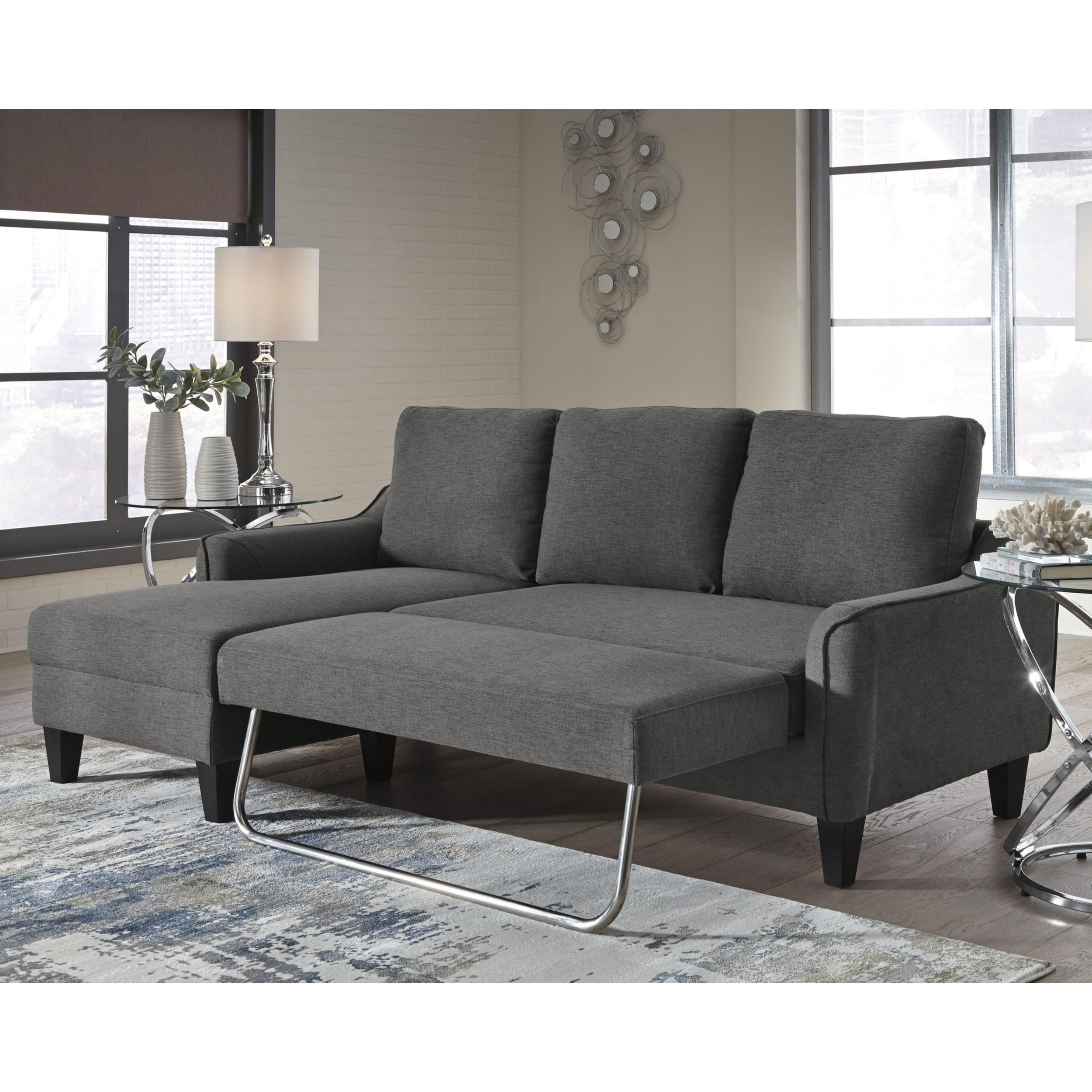 Jarreau Contemporary Gray Sofa Chaise Sleeper