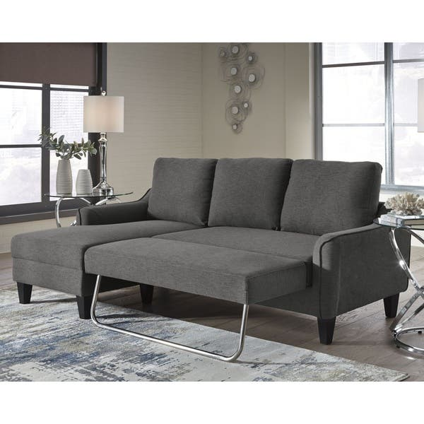 Shop Jarreau Contemporary Gray Sofa Chaise Sleeper - Free ...