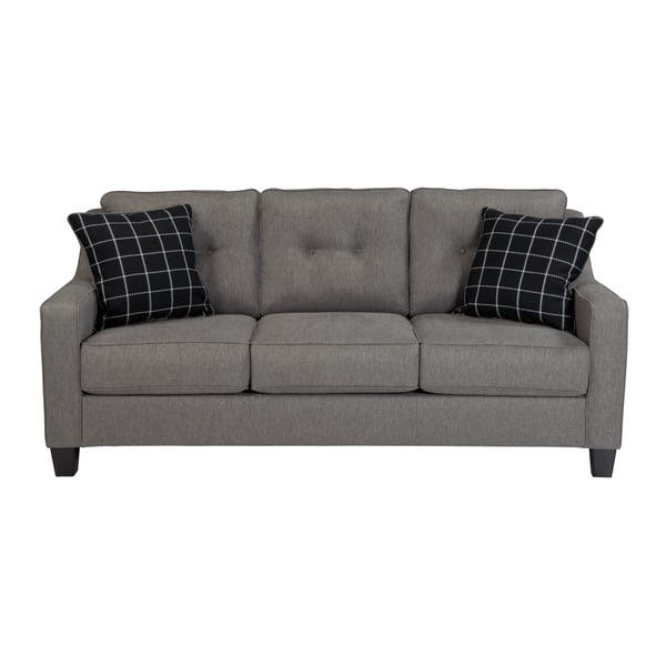 Swell Shop Benchcraft Brindon Contemporary Charcoal Queen Sofa Pabps2019 Chair Design Images Pabps2019Com