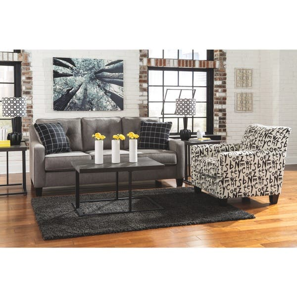 Outstanding Shop Benchcraft Brindon Contemporary Charcoal Queen Sofa Cjindustries Chair Design For Home Cjindustriesco