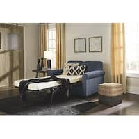 Signature Design by Ashley Cansler Contemporary Blue Denim Twin Sofa Sleeper