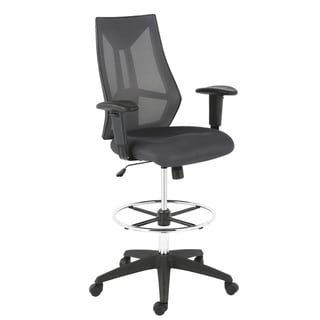 Poly and Bark Benicia Drafting Chair (Grey)
