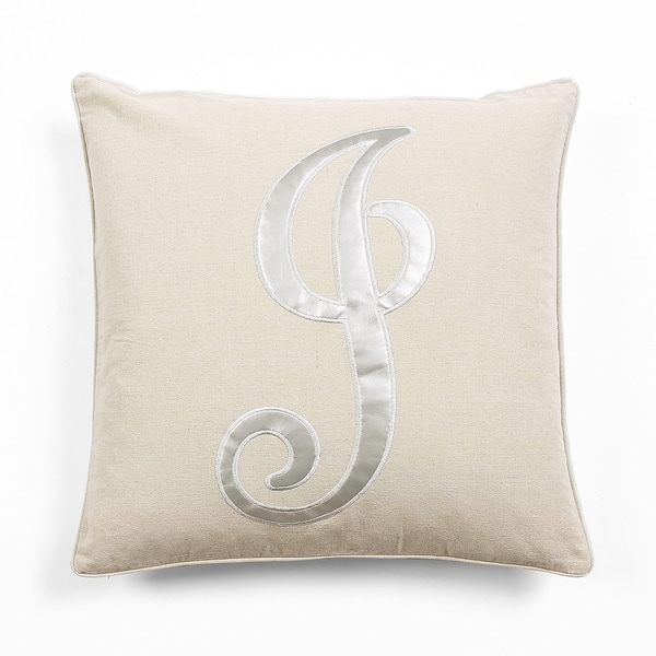 Lush Decor Amanda Monogram Decorative Throw Pillow 20