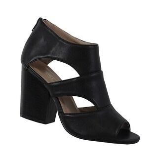 Yoki-Katty-Womens ankle booties with inside zipper