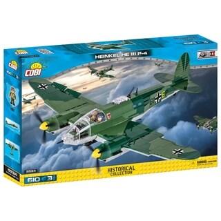 COBI Small Army World War II Heinkel HE 111 P4 Airplane 601 Piece Construction Blocks Building Kit