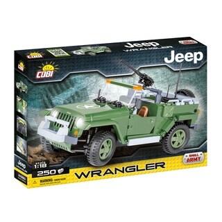 COBI Small Army Jeep Wrangler US Military 1/18 Scale 250 Piece Construction Blocks Building Kit