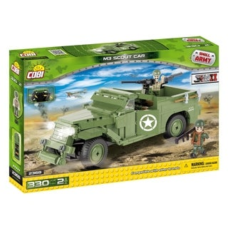 COBI Small Army World War II M3 Scout Car 330 Piece Construction Blocks Building Kit