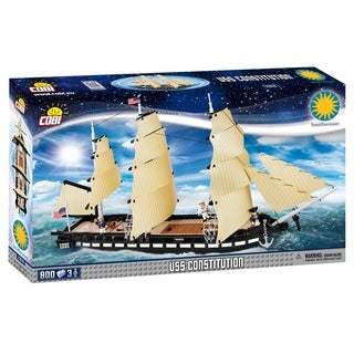 COBI Smithsonian USS Constitution Ship 800 Piece Construction Blocks Building Kit