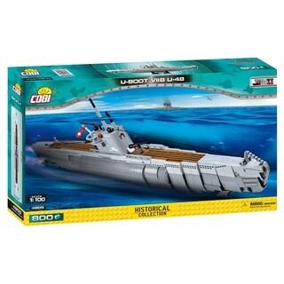 COBI Small Army World War II German Submarine Type U-Boot VIIB U-48 800 Piece Construction Blocks Building Kit