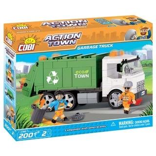 COBI Action Town ECO Town Garbage Truck 200 Piece Construction Blocks Building Kit