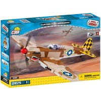 COBI Small Army World War II Curtiss P-40K Warhawk Airplane 265 Piece Construction Blocks Building Kit