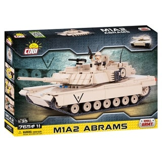 COBI Small Army M1A2 Abrams Tank 765 Piece Construction Blocks Building Kit