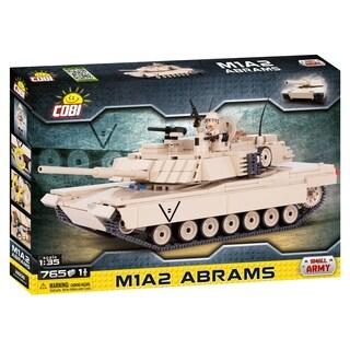 COBI Small Army M1A2 Abrams Tank 765 Piece Construction Blocks Building Kit