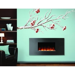 "Rowan Tree Winter Nature Full Color Wall Decal Sticker K-944 FRST Size52""x104"""
