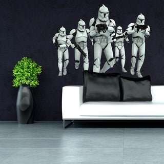 """Soldiers Star Wars Movie Full Color Wall Decal Sticker K-957 FRST Size 30""""x47"""""""