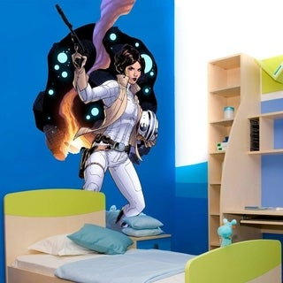 """Girl Soldier Space Full Color Wall Decal Sticker K-965 FRST Size 33""""x40"""""""