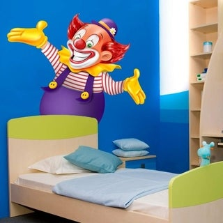 "Funny Clown Smile Kids Full Color Wall Decal Sticker K-964 FRST Size 20""x20"""
