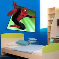 """Comics Hero Spider Man Full Color Wall Decal Sticker K-979 FRST Size 40""""x40"""""""