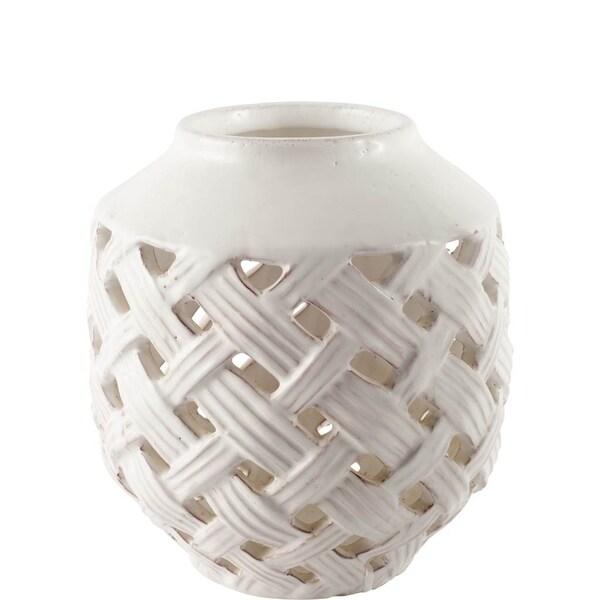 Mercana Forillon I (Short) White Ceramic Vase