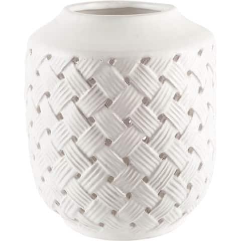 Mercana Forillon II (Tall) White Ceramic Vase
