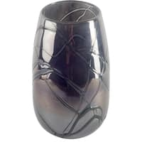 Mercana Marcay II (Large) Black Glass Vase