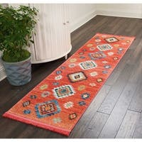 "Nourison Tribal Decor Red Medallion Runner Rug - 2'2"" x 7'9"" Runner"