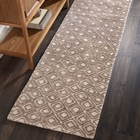 """Nourison Modern Deco Hand Tufted Taupe Runner Rug - 2'3""""x7'6"""""""