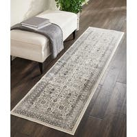 "Kathy Ireland Silver Screen Grey Runner Rug by Nourison - 2'2"" x 7'6"""