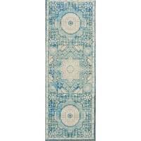 Nourison Madera Vintage Teal Area Rug - 2' x 6'