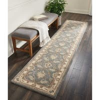 "Nourison India House Blue Traditional Runner Rug - 2'3"" x 10'"